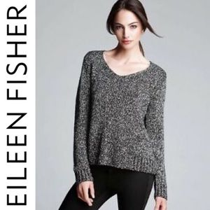 ❤️ Eileen Fisher Wrapped Nubble Box Sweater Top M